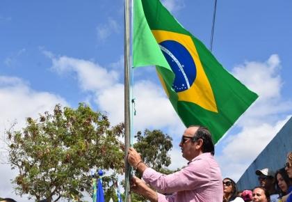 Prefeitura através da Educação, realizou o Desfile na Comunidade de Santa Luzia.