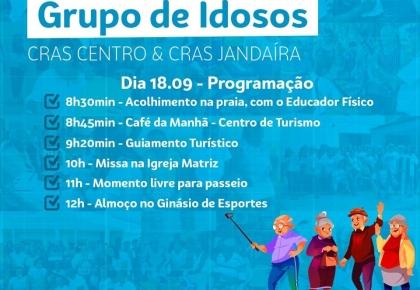 Idosos do CRAS Centro e CRAS de Jandaíra se reunem no próximo dia 18.