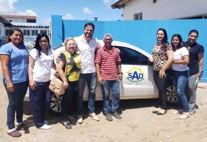 Prefeitura  disponibiliza um carro e uma equipe  para prestarem assistência domiciliar a população tourense.