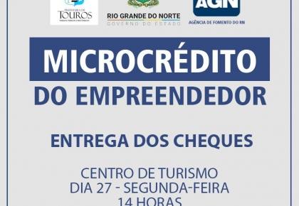 Prefeitura estará entregando primeiros cheques do Programa Microcrédito do Empreendedor.