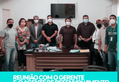 PREFEITO DE TOUROS PARTICIPA DE REUNIÃO COM O GERENTE DO BANCO DO NORDESTE