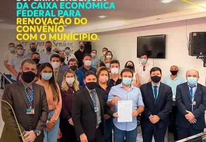 PREFEITURA MUNICIPAL DE TOUROS REALIZA REUNIÃO COM EQUIPE DA CAIXA ECONÔMICA FEDERAL